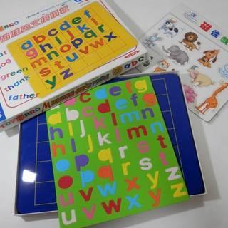知的玩具 アルファベット マグネットボード 未使用