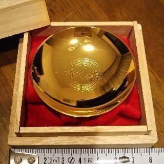 24Kメッキの川口市章刻印付金杯【値下げ】
