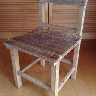 昭和レトロ  木製いす③