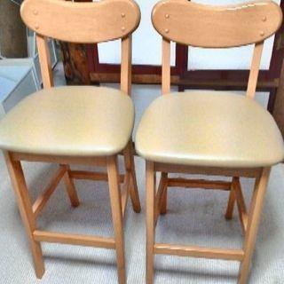 カウンターテーブル セット(椅子2脚)