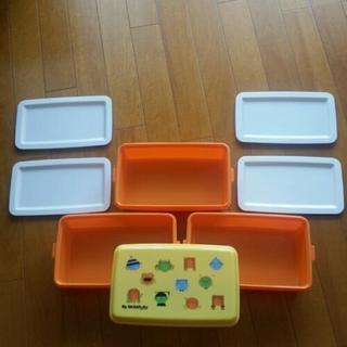 【美品】大容量 お弁当箱 運動会 大人数 大型弁当箱 家族 ピクニック
