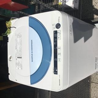 シャープ 5.5kg 全自動洗濯機 ブルー系SHARP 穴なし槽...