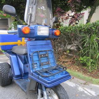 TDO1 青ホンダ ジャイロX トライク風青色 後輪 RACER 240155 824Nの画像