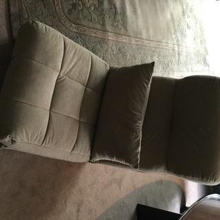 (美品) おひとり様用 ソファベッド 座椅子 ベージュ