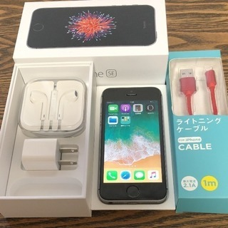 【極美品】iPhone SE Space Gray 64 GB ...