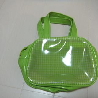 ギンガムチェックグリーンミニバッグ