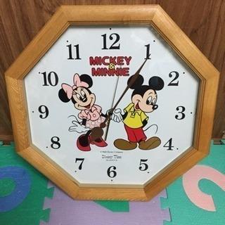 ジャンク扱い  ミッキーマウスの壁掛け時計 46センチ