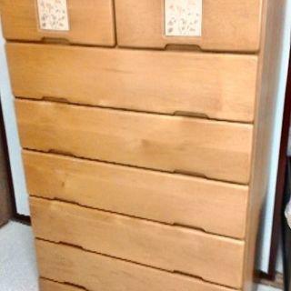 木製六段チェスト
