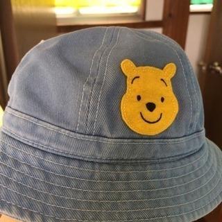 子供用プーさんデニム帽子