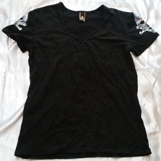 Roen ロエン 半袖 ラメ Tシャツ ブラック Lサイズ