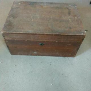 レトロ 木箱 収納 ケース トランク 古物 古民具
