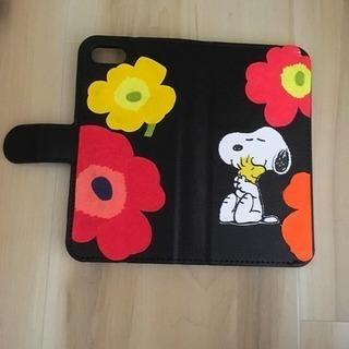 スヌーピー 手帳型ケース iPhone7