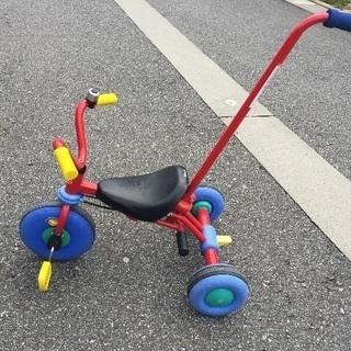 子供 押し手付き 三輪車