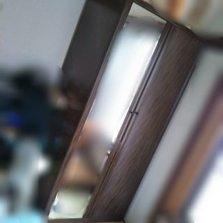 【再出品】鏡付き クローゼット