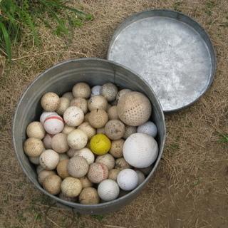 古ゴルフボール