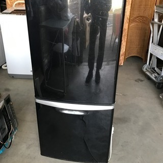 格安 動作OK 黒 2ドア 冷蔵庫 中古 千葉県 配達も可