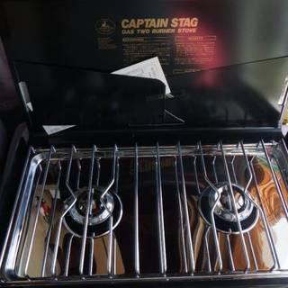 未使用 CAPTAIN STAG ガスツーバーナーコンロ M-8254