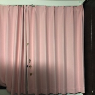 遮光1級 ニトリ ピンクカーテン