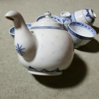 中国茶ポット&お茶碗5個セット - 世田谷区