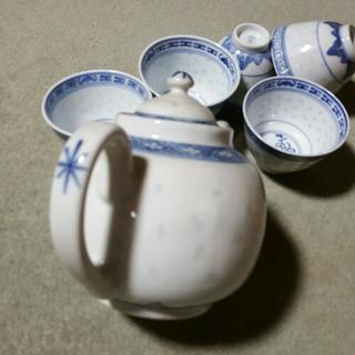 中国茶ポット&お茶碗5個セット - 家電