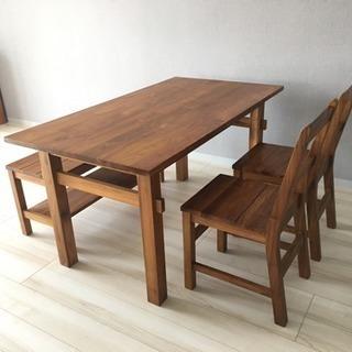 unico ダイニングテーブル & ベンチの画像
