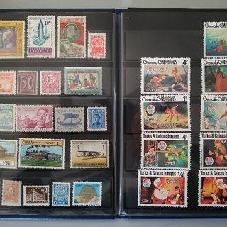 外国切手・琉球(沖縄)切手、使用済み切手・未使用切手、220枚、...