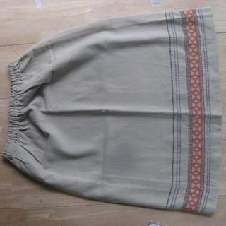 エスニック柄 ノルディック ベージュのスカート