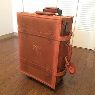 【終了】本革スーツケース(機内持ち込み可)豚革のアンティークレト...