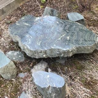 超希少!阿波の青石の庭園用テーブルスツールセット