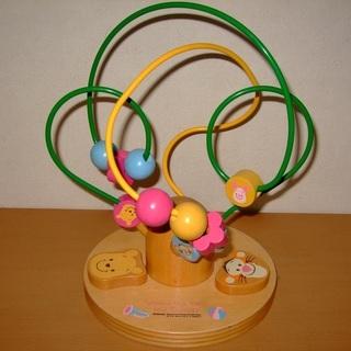 ★知育玩具(プーさんの木製ルーピング)