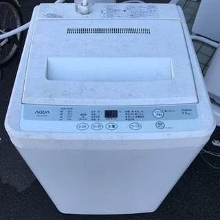 12年製 アクア全自動洗濯機4.5キロ 中古 リサイクルショップ宮...