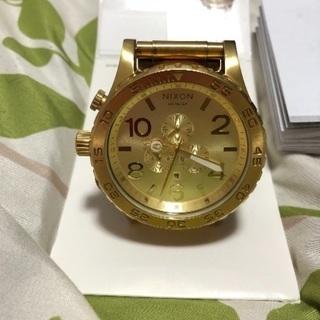 Nixon 腕時計 ゴールド 大きなフェイス!