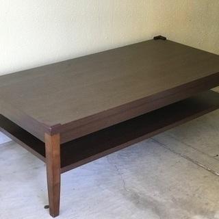 【在庫入れ替え価格 配達 設置ok】高級感あり 木目調テーブル