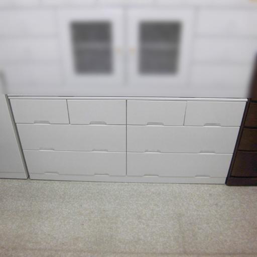 シンプル 大収納 ホワイト ワイドローチェスト 札幌市 西区 西野の画像