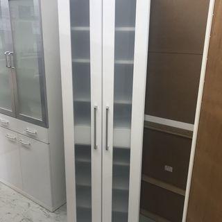 美品!カップボード スリム収納 収納 食器棚 棚 スリム収納 収納...