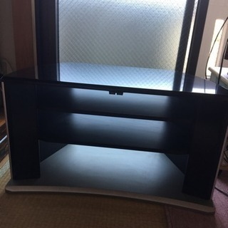 テレビ台 黒色 コーナー型キャスター付き