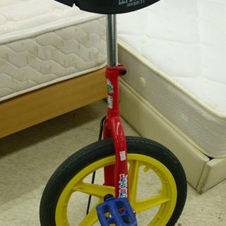 一輪車 スタンド付 可愛い赤黄色 札幌市 西宮の沢