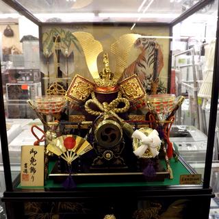 五月人形 兜 端午の節句 吉徳 御兜飾り オルゴール付き 札幌 西岡店