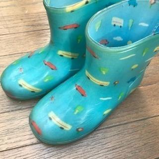 長靴 16.0 水色