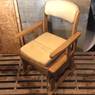 (0420-0520) 介護椅子◆排泄補助◆木製チェア◆市内配送可能!!
