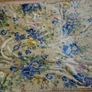 アクリル毛布 ロマンス小杉 1枚 ブルー