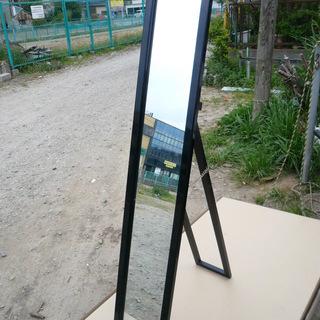 スタンドミラー 鏡 姿見 黒