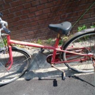赤い自転車差し上げます