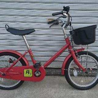 子供用自転車 補助輪あり 無印良品 赤 16インチ - 岡崎市