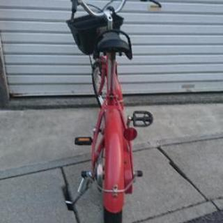 子供用自転車 補助輪あり 無印良品 赤 16インチ − 愛知県