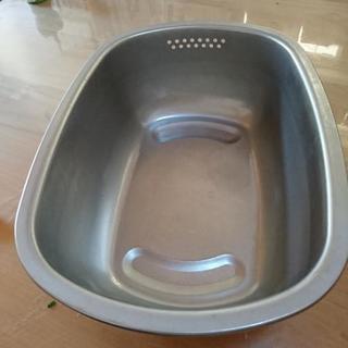 値下げしました!ステンレス洗い桶/日本製