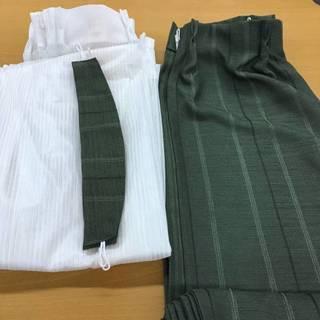 ニトリ  遮光カーテン グリーン 100cm×200cm