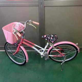 女の子用 20インチ 自転車 ピンク おまけ付