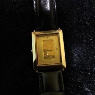 純金インゴット入り腕時計