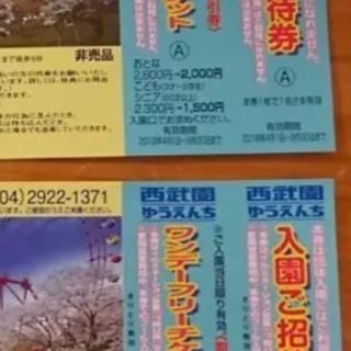 2枚‼️西武遊園地 入園ご招待券 ワンデーフリーチケット割引券